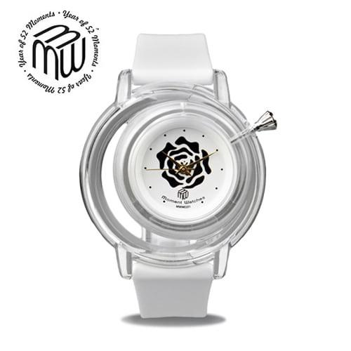 [모먼트워치시계 MOMENTS] MW0401 백장미 시계/EXID 하니시계 41mm