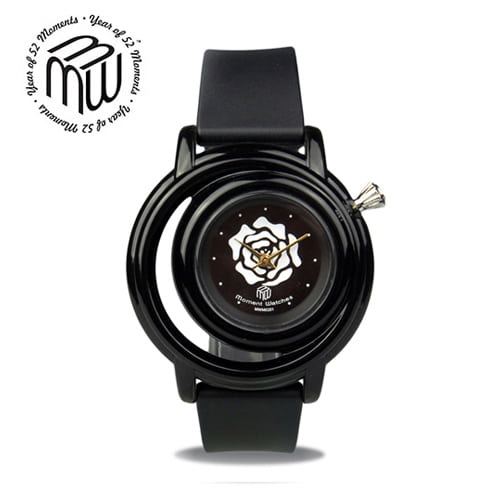 [모먼트워치시계 MOMENTS] MW0501 흑장미 시계/EXID 하니시계!! 41mm