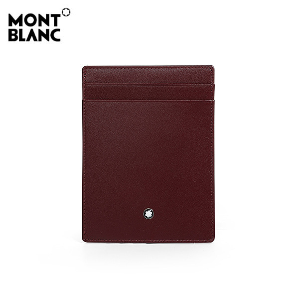 [몽블랑 MONTBLANC] 118312 / 마이스터스튁 4CC 명함 카드지갑(버건디) 타임메카