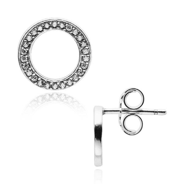 5월-) [판도라 PANDORA] 여성 판도라 귀걸이 290585CZ Silver stud earrings