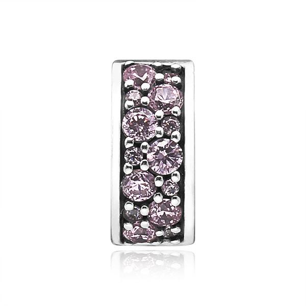 [판도라 PANDORA] 여성 판도라 클립 참 791817PCZ Pink Shining Elegance Spacer Clip