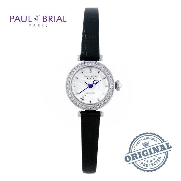 [폴브리알시계 PAULBRIAL] PB8008WTBK 몽펠리에 다이아몬드