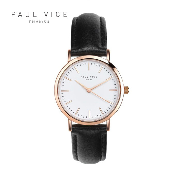 [폴바이스 PAULVICE] PV301BK Emma Collection White - Black 엠마 컬렉션 32mm 여성시계
