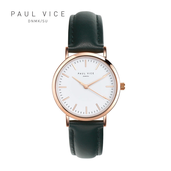 [폴바이스 PAULVICE] PV301GN Emma Collection White - Green 엠마 컬렉션 32mm 여성시계