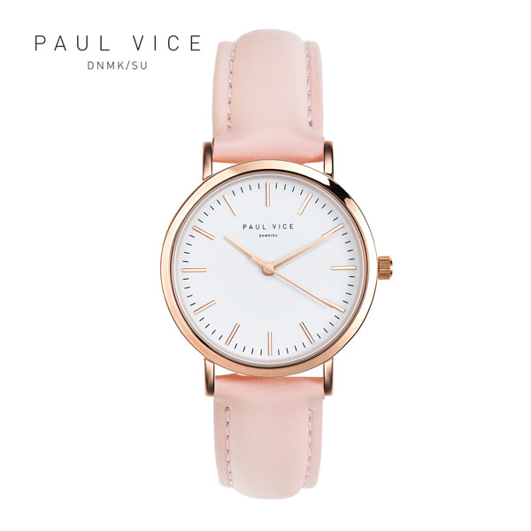 [폴바이스 PAULVICE] PV301PK Emma Collection White - Pink 엠마 컬렉션 32mm 여성시계