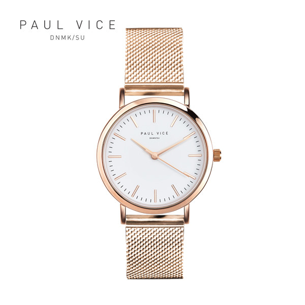 [폴바이스 PAULVICE] PV301RG Emma Collection White - Rosegold 엠마 컬렉션 32mm 여성시계