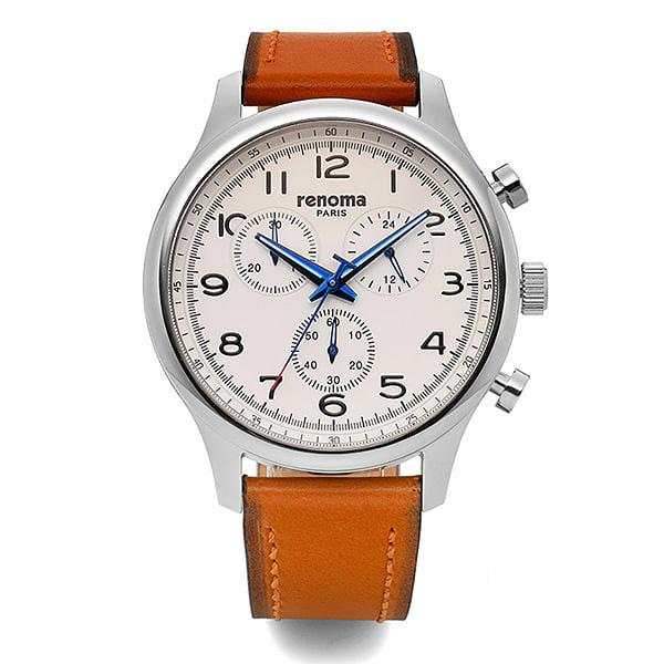 [레노마시계 RENOMA] RE490-MWBR 가죽 시계 [한국본사정품]