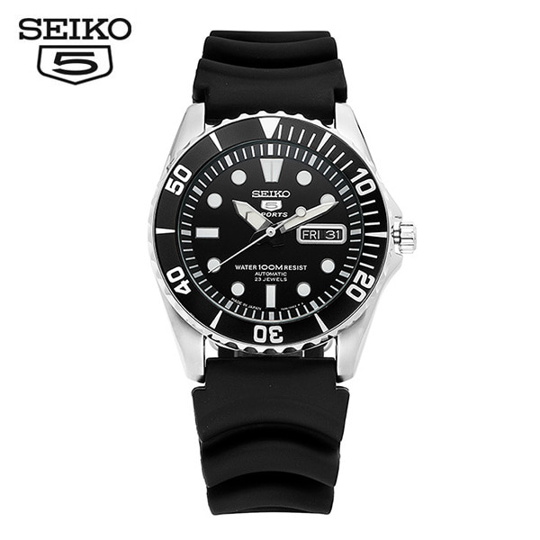 [세이코5 SEIKO5] SNZF17J2 Sports Rubber Strap Automatic 42mm