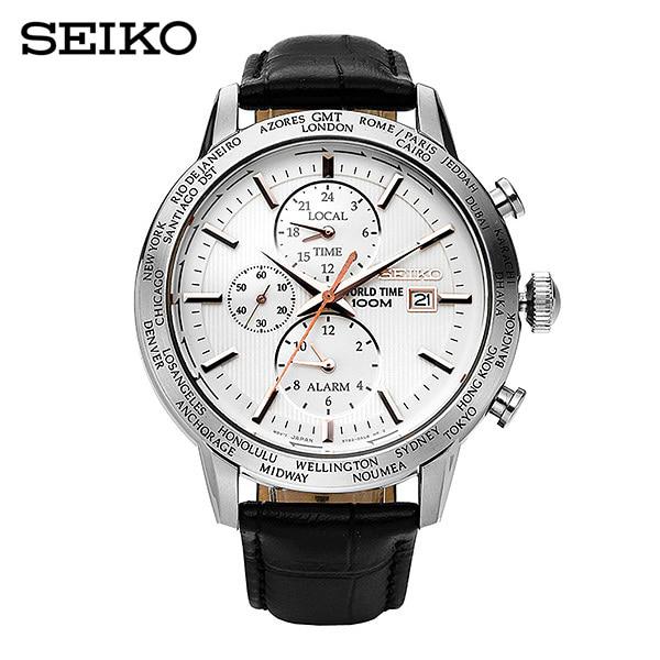 [세이코 SEIKO] SPL053P1 / 월드타임 크로노그래프 World Time GMT 44mm