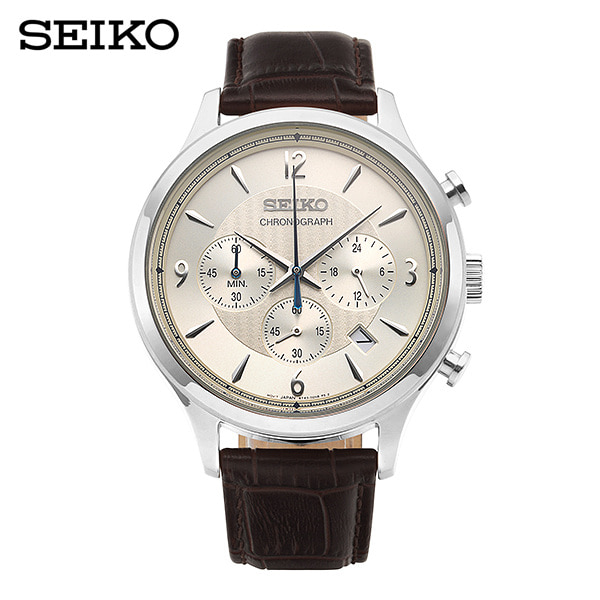 [세이코 SEIKO] SSB341P1 / 컨셉츄얼 Conceptual 크로노그래프 남성용 가죽시계 43mm 타임메카