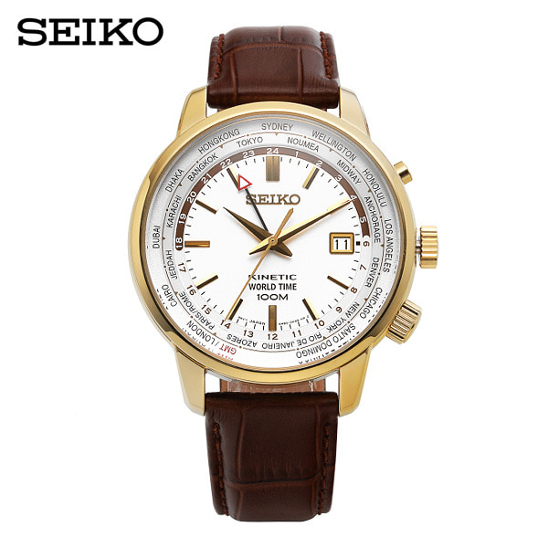 [세이코 SEIKO] SUN070P1 / 키네틱 Kinetic World Time GMT 43mm