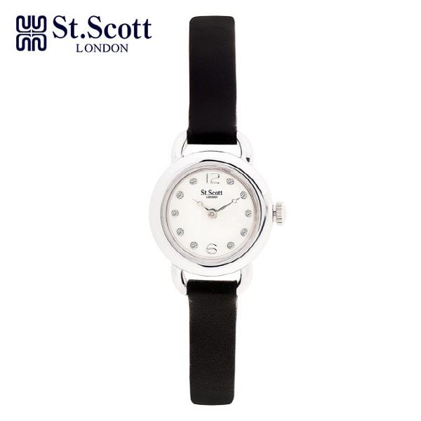 [세인트스코트 ST.SCOTT] ST1001WTBK 여성용 가죽시계 20mm