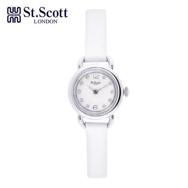 [세인트스코트 ST.SCOTT] ST1001WTWT 여성용 가죽시계 20mm