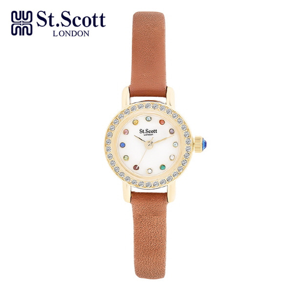 [세인트스코트 ST.SCOTT] ST1002GDBR 여성용 가죽시계 20mm