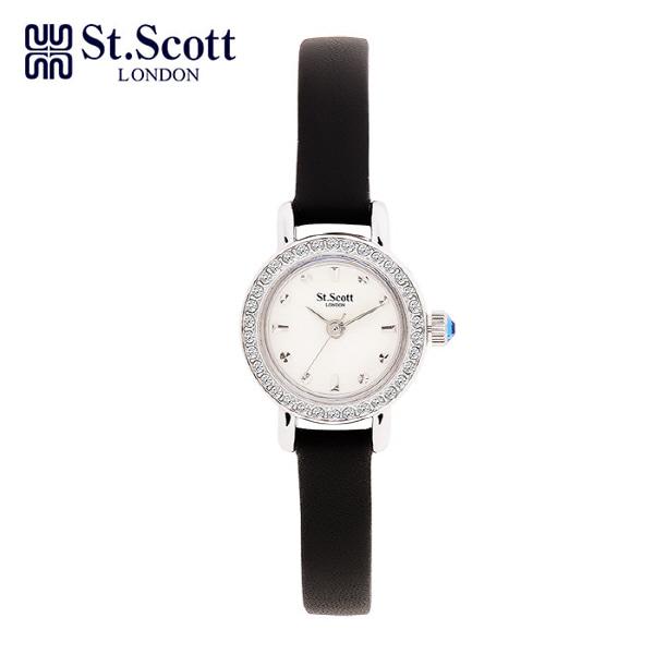 [세인트스코트 ST.SCOTT] ST1002WTBK 여성용 가죽시계 20mm