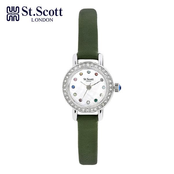 [세인트스코트 ST.SCOTT] ST1002WTGR 여성용 가죽시계 20mm