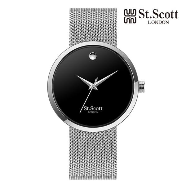 [세인트스코트 ST.SCOTT] ST5001M-SBS Analogue 남성용 아날로그 메탈시계  42mm 타임메카
