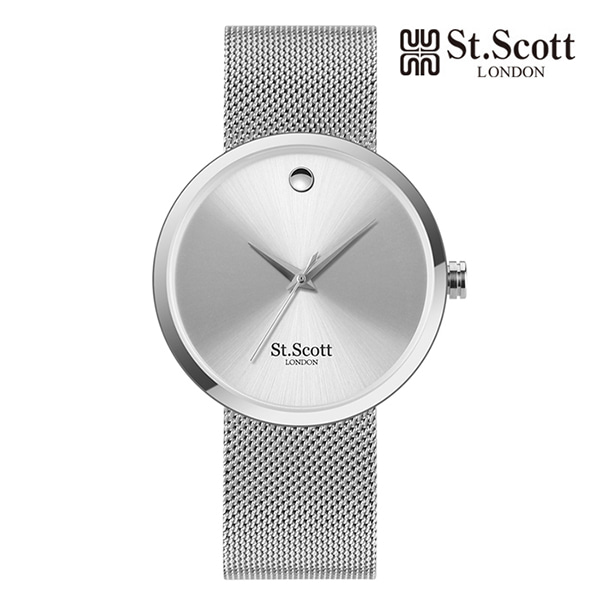 [세인트스코트 ST.SCOTT] ST5001M-SSS Analogue 남성용 아날로그 메탈시계  42mm 타임메카