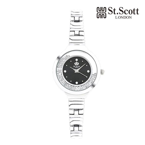 [세인트스코트 ST.SCOTT] ST5014WTBK TWINKLING 여성용 메탈시계 28mm 타임메카