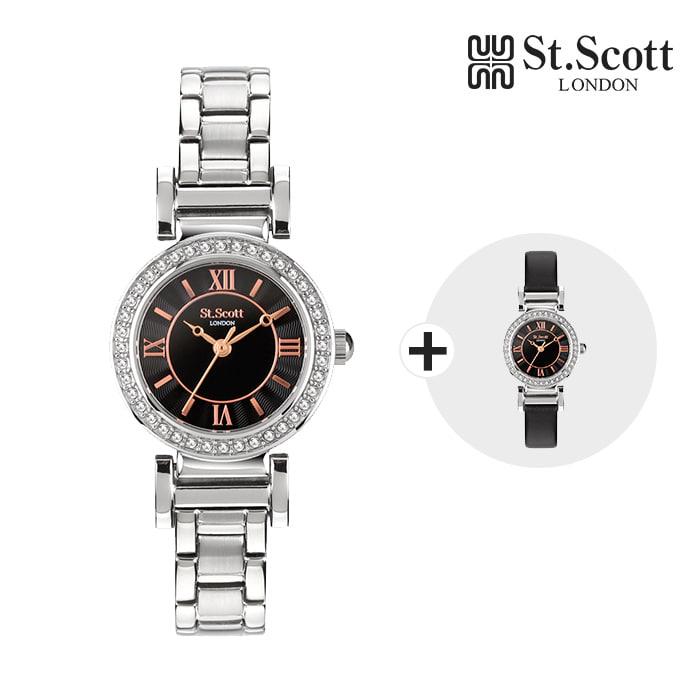 [세인트스코트 ST.SCOTT] ST5301SBS AMITIE 여성용 메탈시계 24mm 타임메카