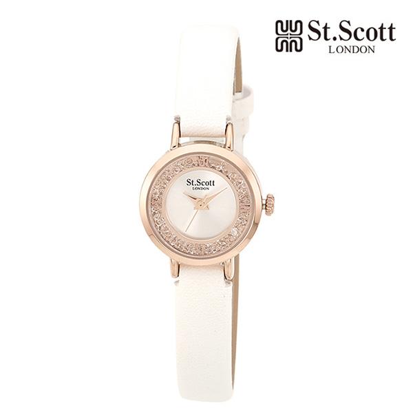 [세인트스코트 ST.SCOTT] ST7005RSW MOVING GLITTERY 여성용 가죽시계 23mm 타임메카