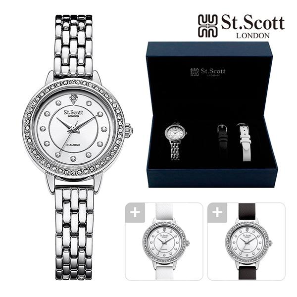 [세인트스코트 ST.SCOTT] ST7009SSS 벨리타 다이아몬드 워치 SEASON2 여성용 메탈시계 28mm 타임메카