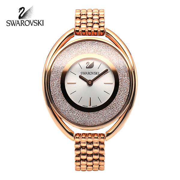 [스와로브스키 SWAROVSKI] 5200341 Crystalline Oval Rose Gold Tone 브레이슬릿 워치
