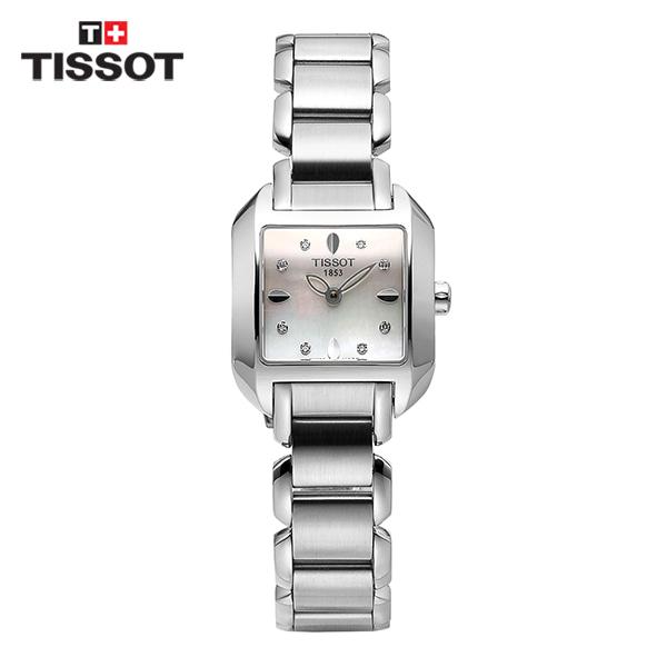 [티쏘시계 TISSOT] T02.1.285.74 (T02128574) / 티웨이브 T-WAVE 다이아몬드 여성용 메탈시계 23x20mm 타임메카