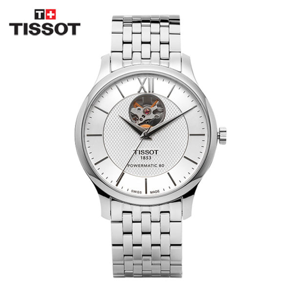 [티쏘 TISSOT] T063.907.11.038.00(T0639071103800) / 트레디션 오픈하트 Tradition OpenHeart 40mm