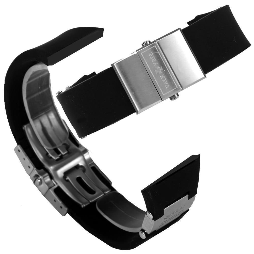 [발키리 VALKYRIE] V-203SBS 다스크로노 전용 정품 블랙실리콘밴드(+실버버클) 타임메카