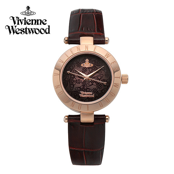 [비비안웨스트우드시계 VIVIENNEWESTWOOD] VV092BRBR 웨스트본 Westbourne 여성용 가죽시계 28mm 타임메카