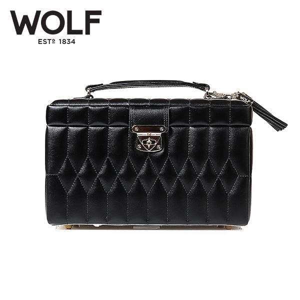 [울프 WOLF] 329771 (Caroline Medium Box Black) / 보석함 Jewel Box