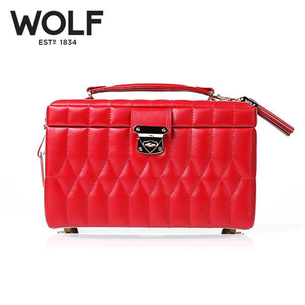 [울프 WOLF] 329772 (Caroline Medium Box Red) / 보석함 Jewel Box