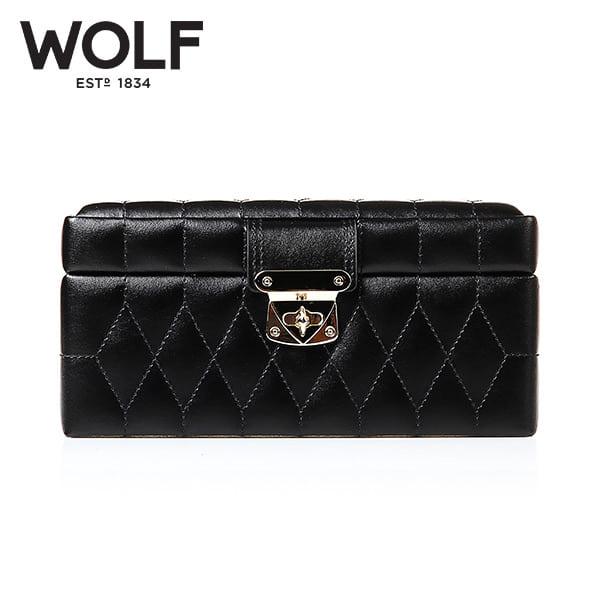[울프 WOLF] 329871 (Caroline Small Box Black) / 보석함 Jewel Box