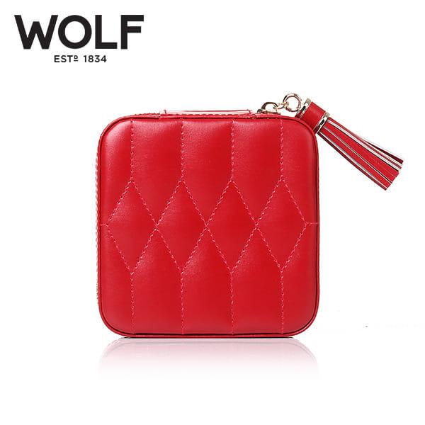[울프 WOLF] 329972 (Caroline Zip Case Red) / 보석함 Jewel Box