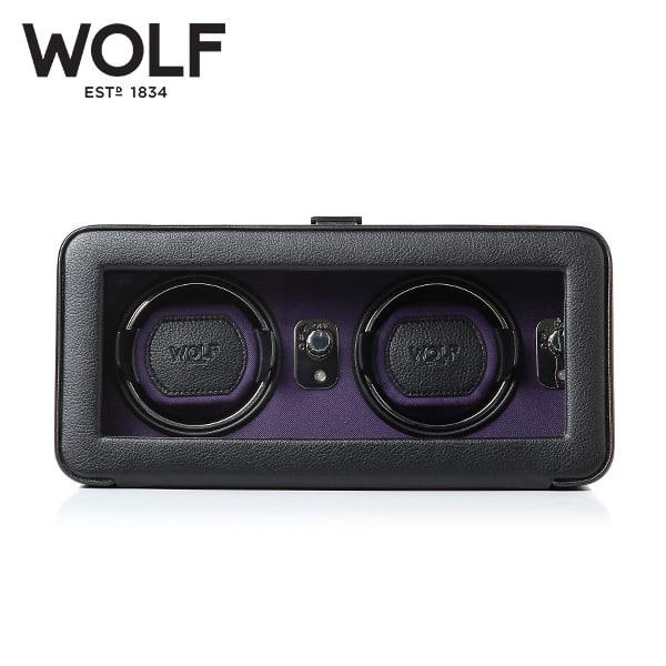 [울프 WOLF] 452603 (Windsor Double Winder Blk/Pur) / 워치와인더 Watch Winder