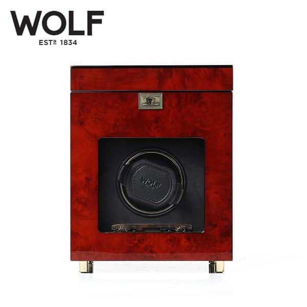 [울프 WOLF] 454510 (Savoy Single Winder w/ Stg Bur) / 워치와인더 Watch Winder