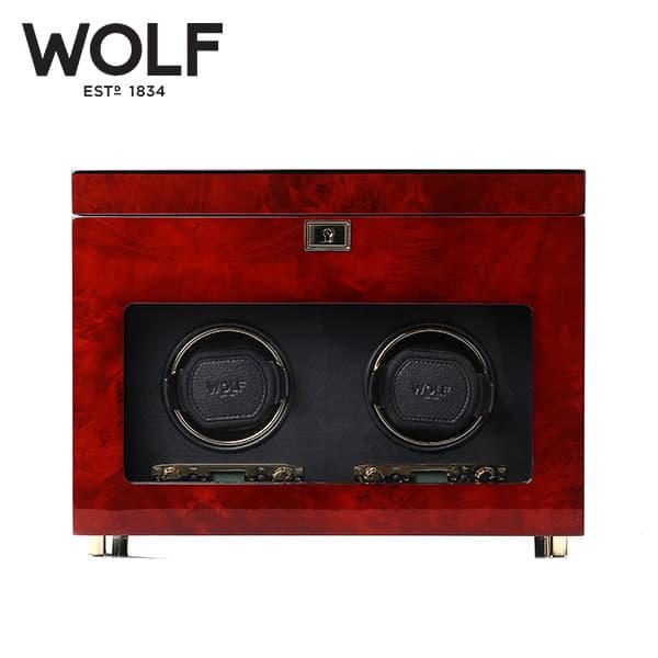 [울프 WOLF] 454610 (Savoy Dbl Winder w/ Stg Burl) / 워치와인더 Watch Winder