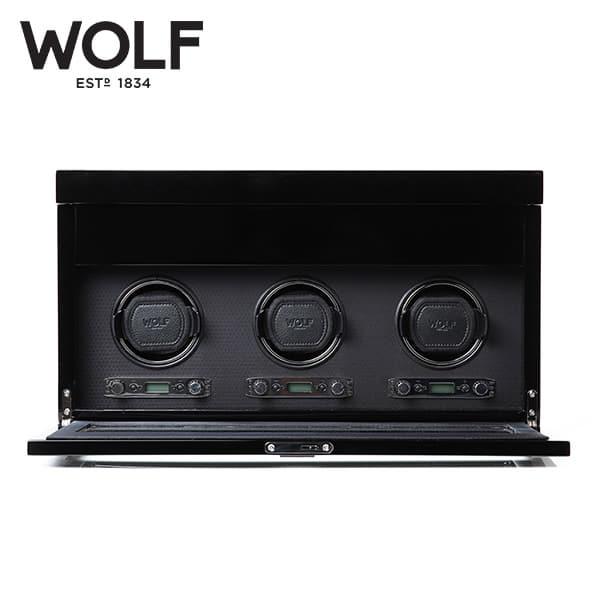 [울프 WOLF] 454770 (Savoy Trp w/ Stg Blk) / 워치와인더 Watch Winder