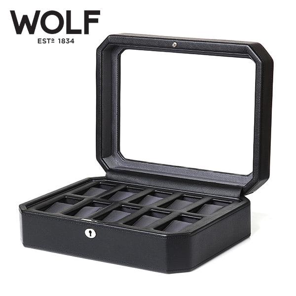[울프 WOLF] 4584029 (Windsor 10pc Watch Box Blk) / 시계보관함 Watch Cubbyhole