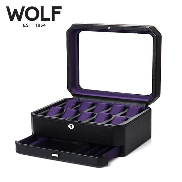 [울프 WOLF] 458603 (Windsor 10pc Watch Box w/ Draw) / 시계보관함 Watch Cubbyhole