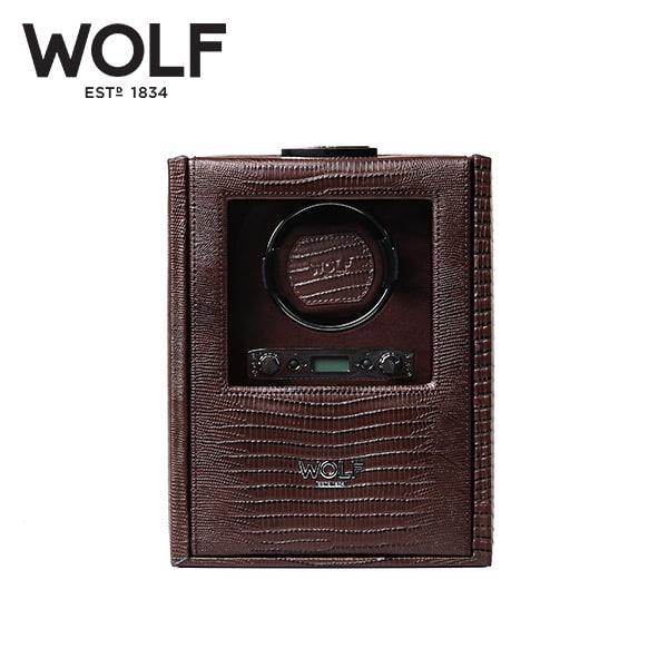 [울프 WOLF] 460695 (Blake Single Winder Brown Liz) / 워치와인더 Watch Winder