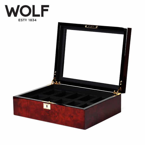 [울프 WOLF] 461610 (Savoy 10pc Watch Box Burl) / 시계보관함 Watch Cubbyhole