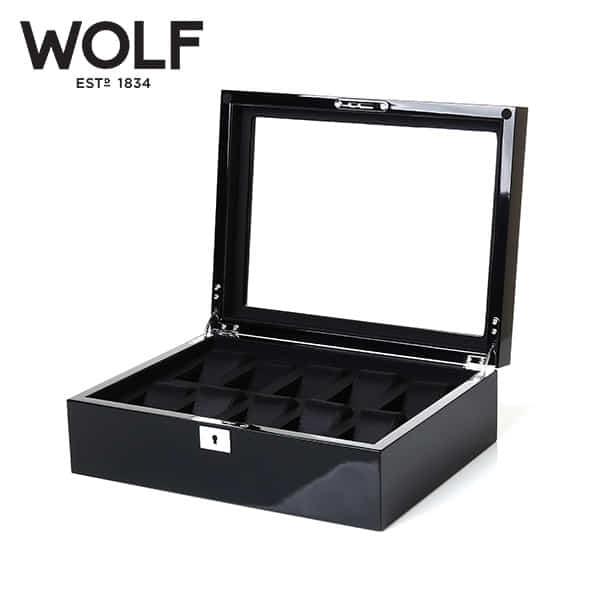 [울프 WOLF] 461670 (Savoy 10pc Watch Box Blk) / 시계보관함 Watch Cubbyhole