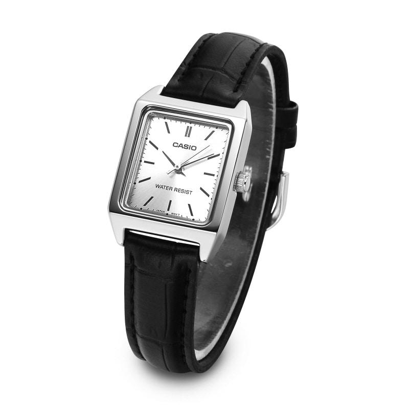 카시오(CASIO) LTP-V007L-7E1UDF 아날로그 여성 가죽 시계