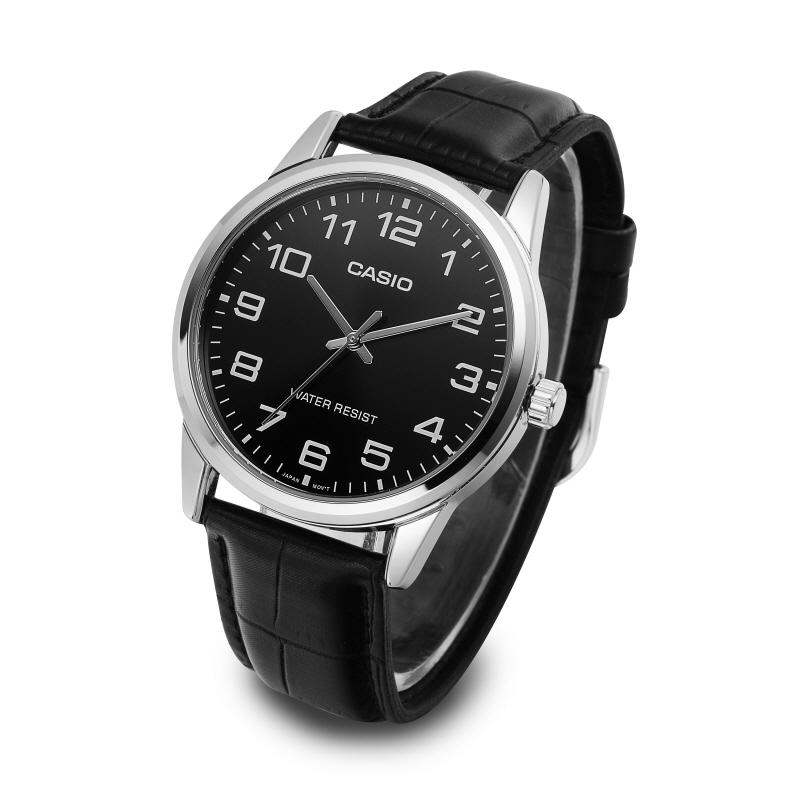 카시오(CASIO) MTP-V001L-1BUDF 아날로그 스탠다드 남성 가죽 시계 38mm