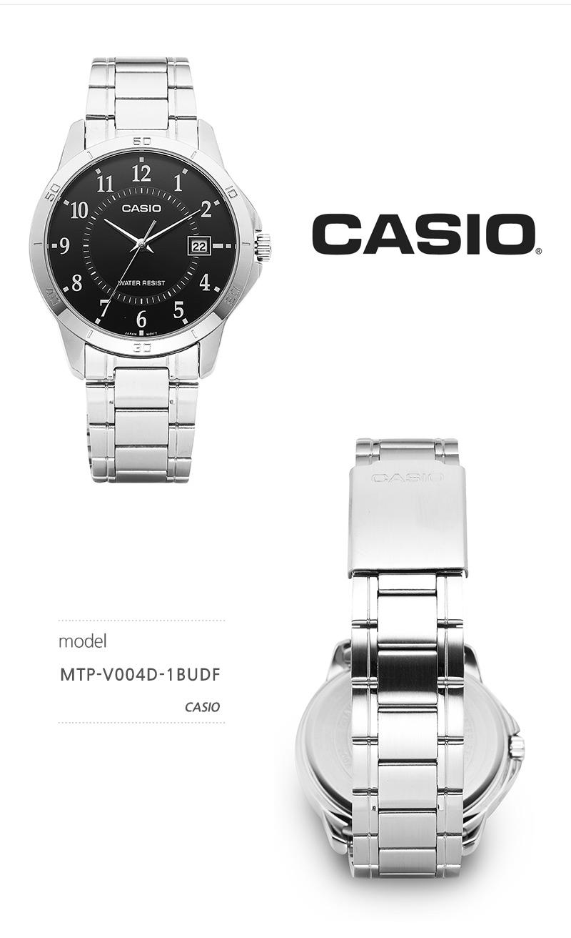 카시오(CASIO) CASIO 카시오 MTP-V004D-1BUDF (MTP-V004D-1BDF) / 아날로그 남성 클래식 매탈시계