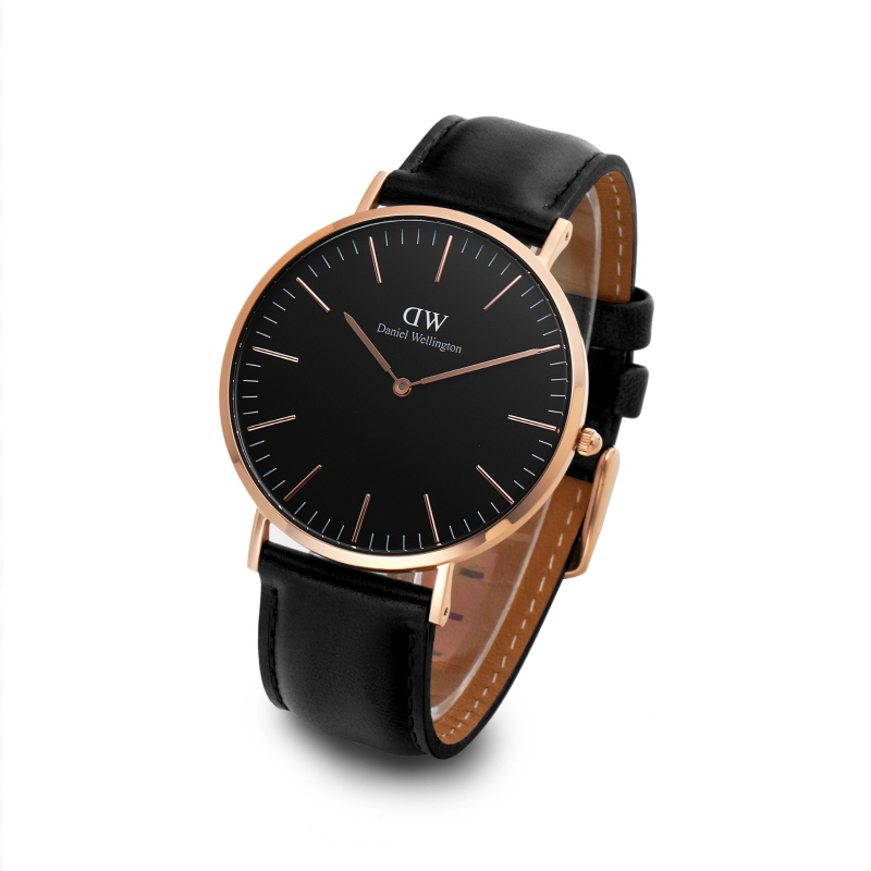 다니엘 웰링턴(DANIEL WELLINGTON) DW00100127 Classic Black Sheffield 로즈골드 40mm