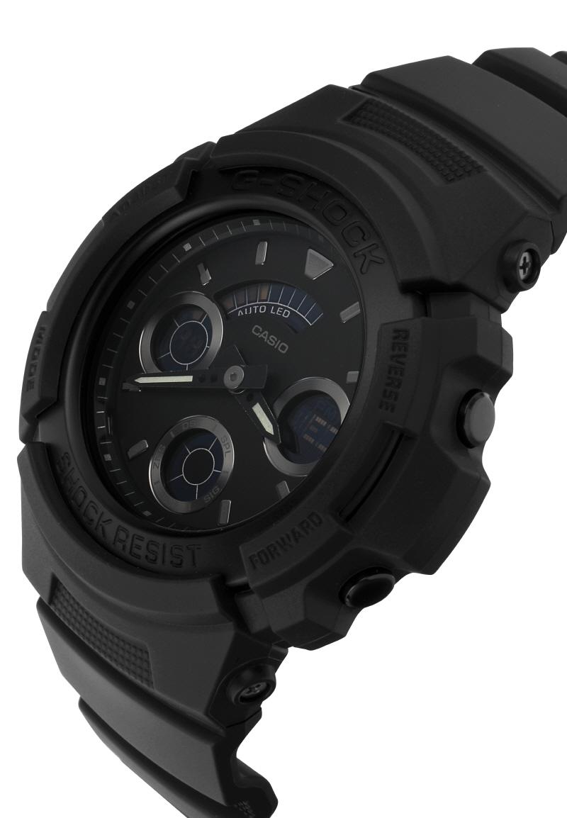 지샥 G-SHOCK AW-591BB-1A ANALOG DIGITAL BLACK 아날로그 디지털 블랙 남성 우레탄시계