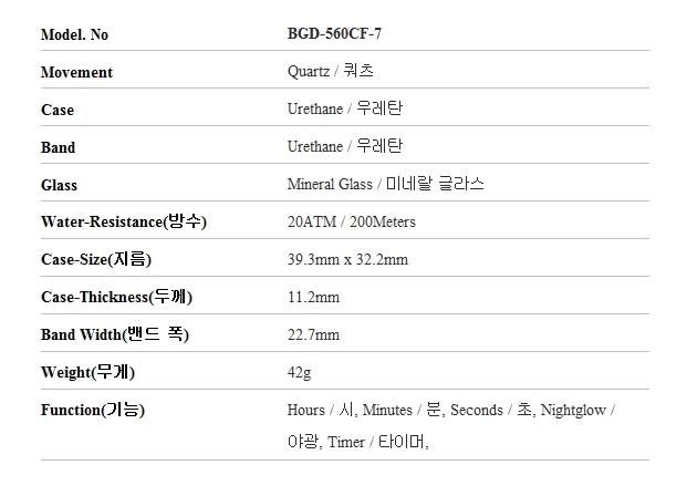 지샥 G-SHOCK BGD-560CF-7 BABY-G 베이비지 썸머 플라워 패턴 화이트 여성 우레탄시계